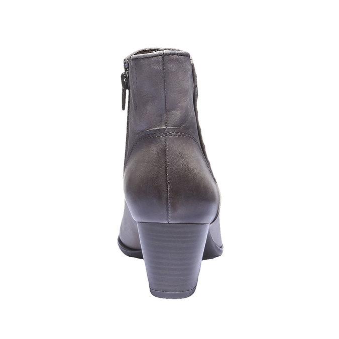 Skórzane botki bata, szary, 696-2100 - 17