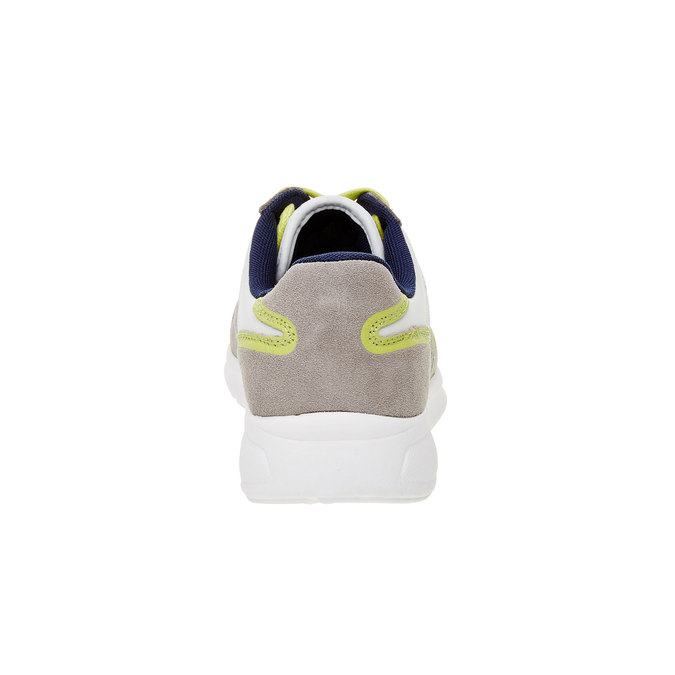 Męskie skórzane buty sportowe gas, beżowy, żółty, 843-8606 - 17