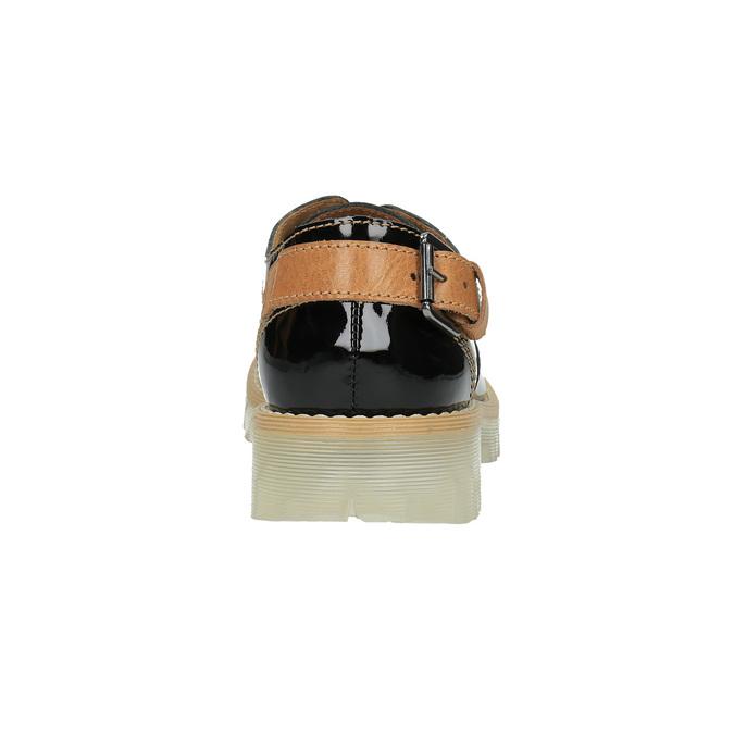 Półbuty damskie ze skóry, zprzezroczystą podeszwą weinbrenner, czarny, 598-6603 - 17