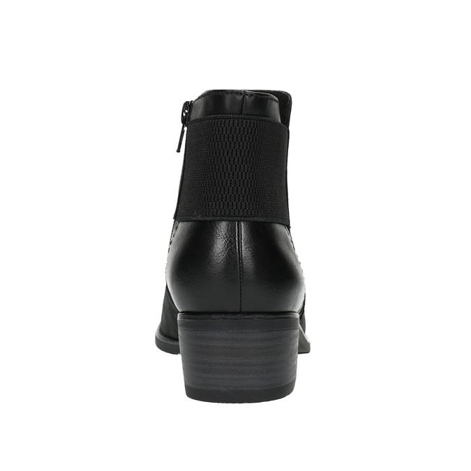 Botki damskie bata, czarny, 696-6605 - 17