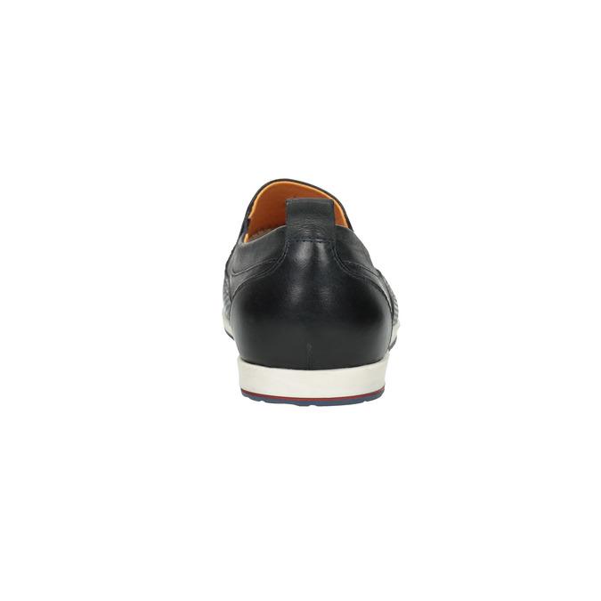 Męskie skórzane buty Slip On bata, czarny, 814-9148 - 17