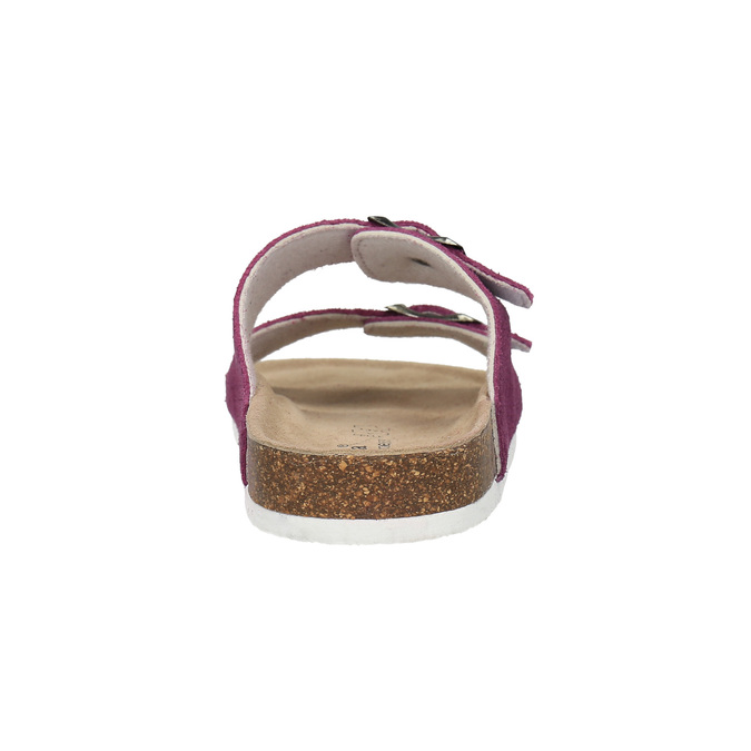 Damskie skórzane pantofle de-fonseca, fioletowy, 573-5620 - 17