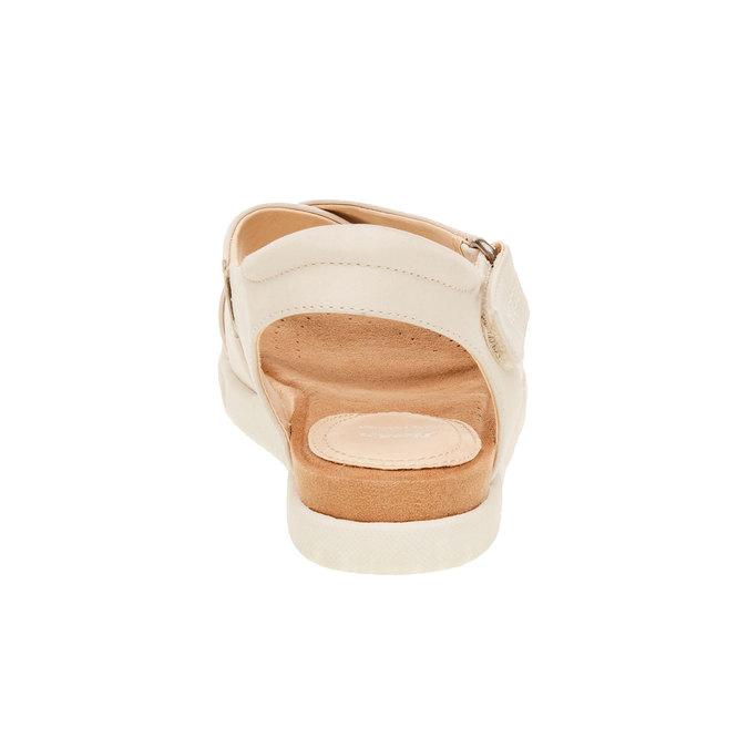 Damskie skórzane sandały bata, beżowy, 564-4351 - 17