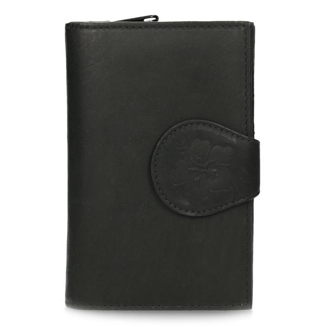 Damski skórzany portfel bata, czarny, 944-6155 - 26