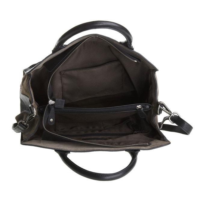Damska skórzana torebka fredsbruder, czarny, 964-6088 - 15