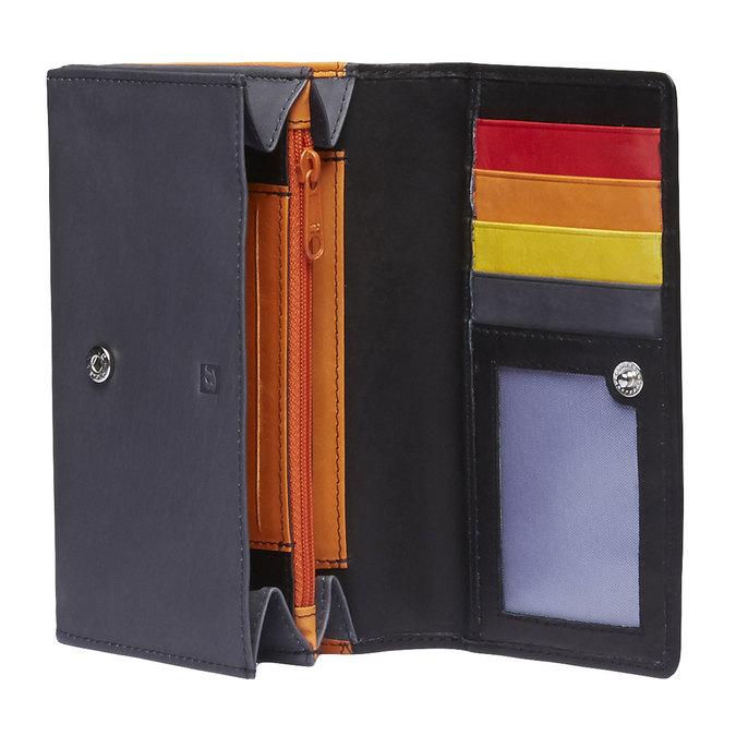Damski skórzany portfel bata, czarny, 944-6156 - 15