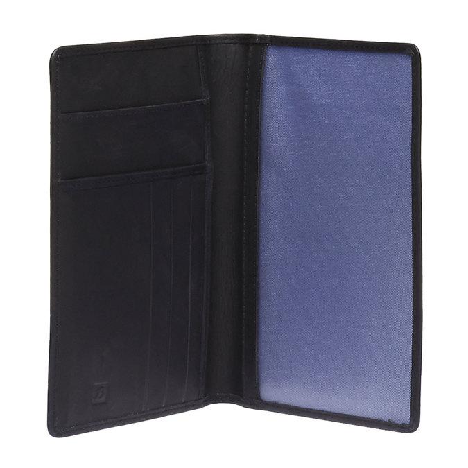 Skórzane etui na karty bata, czarny, 944-6159 - 15