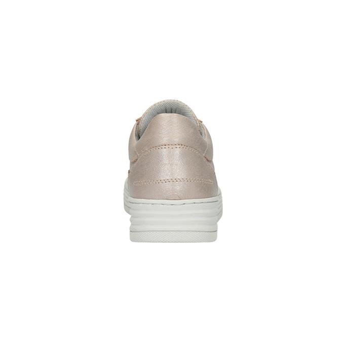 Damskie skórzane buty sportowe bata, różowy, 526-5612 - 17