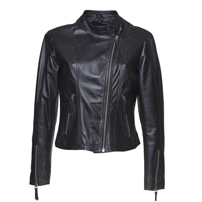 Skórzana kurtka damska bata, czarny, 974-6145 - 13