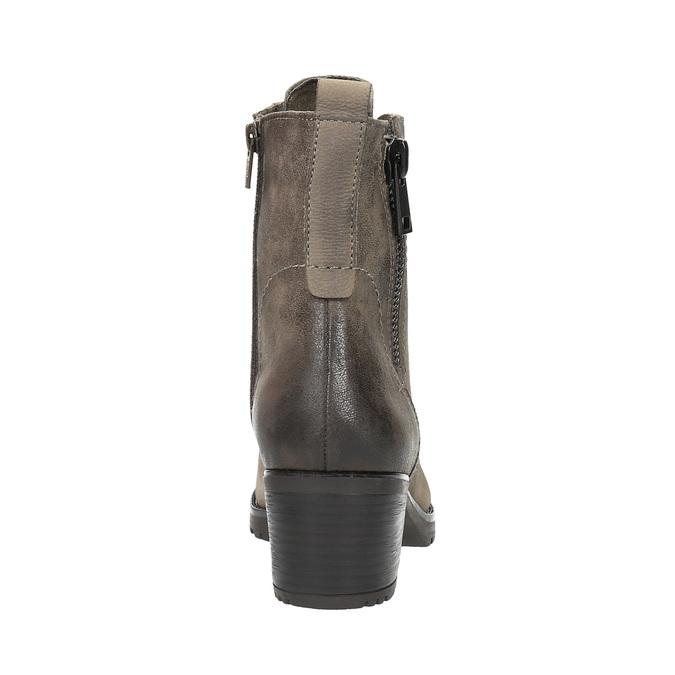 Botki damskie bata, szary, 696-2604 - 17