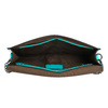 Kopertówka damska wkolorze turkusowym bata, 961-7624 - 15