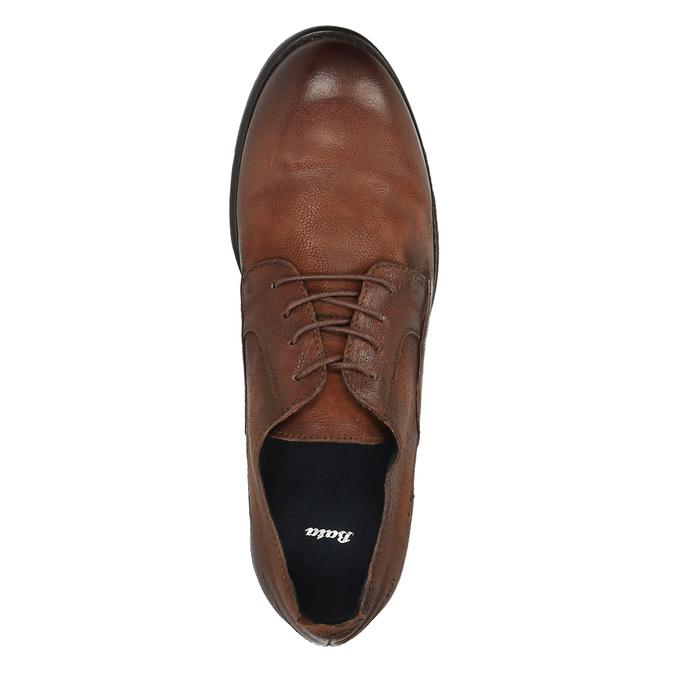 Skórzane półbuty męskie onieformalnym stylu bata, brązowy, 826-4732 - 19
