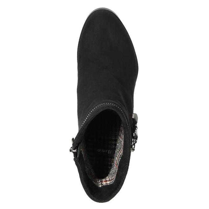 Botki damskie na koturnie bata, czarny, 799-6631 - 19