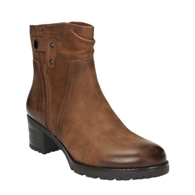 Botki damskie bata, brązowy, 696-4603 - 13
