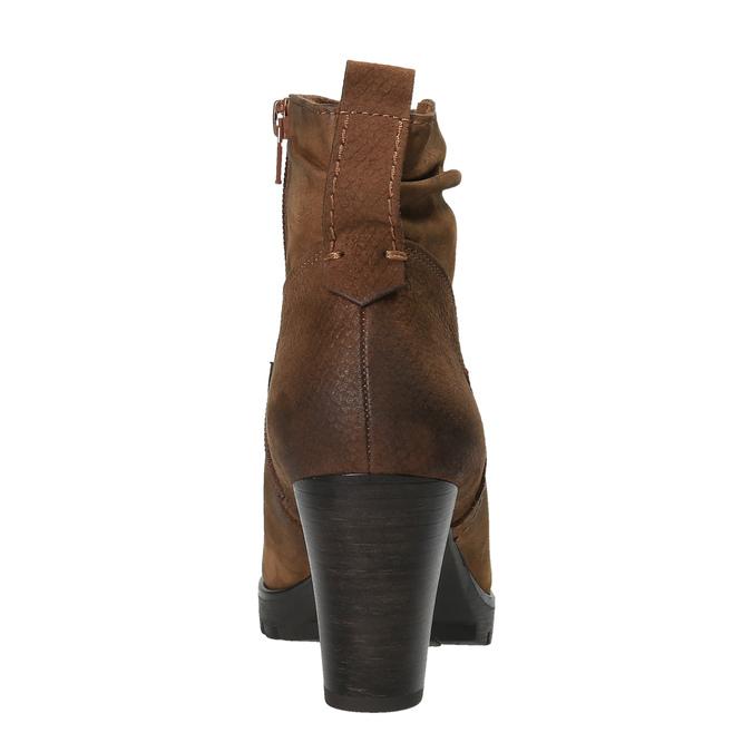 Botki damskie bata, brązowy, 796-4600 - 17