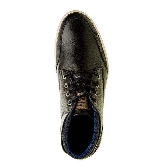 Skórzane buty sportowe do kostki bata, czarny, 844-6620 - 19