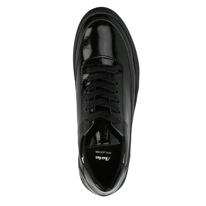 Damskie lakierowane buty sportowe bata, czarny, 528-6632 - 19