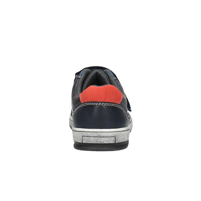 Granatowe trampki dziecięce na rzepy mini-b, niebieski, 411-9601 - 17