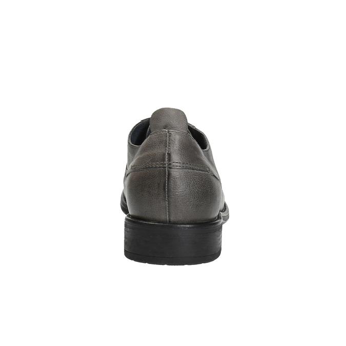 Skórzane półbuty męskie onieformalnym stylu bata, szary, 826-2732 - 17