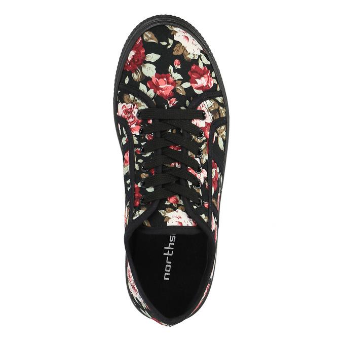 Tenisówki w kwiaty bata, czarny, 529-0630 - 19
