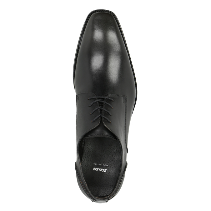 Męskie skórzane półbuty bata, szary, 826-2646 - 19