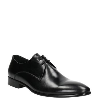 Czarne skórzane półbuty bata, czarny, 826-6648 - 13