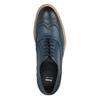 Skórzane Oxfordy ze zdobieniem typu Brogue bata, niebieski, 826-9647 - 19