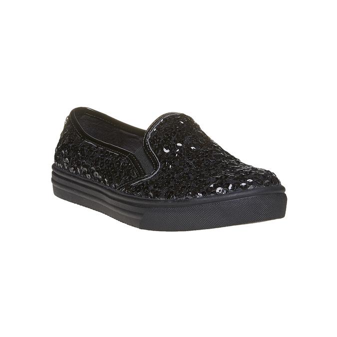 Dziecięce buty Slip-on z cekinami mini-b, czarny, 329-6229 - 13
