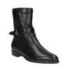 Damskie botki z przeszyciami bata, czarny, 594-6616 - 13