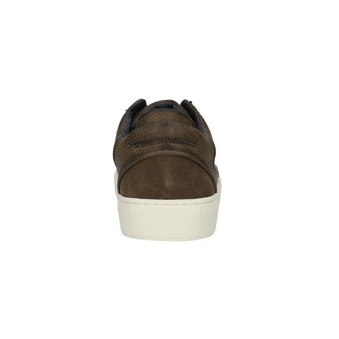 Trampki męskie zgrubą podeszwą bata, brązowy, 841-4606 - 17