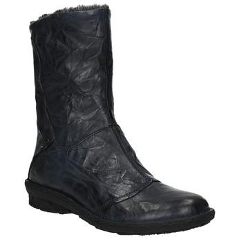Damskie ocieplane buty bata, niebieski, 596-9624 - 13