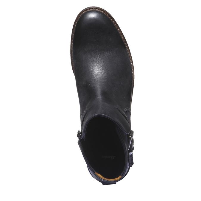 Skórzane buty do kostki bata, czarny, 894-6107 - 19