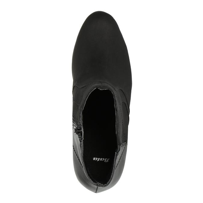 Botki na obcasie bata, czarny, 791-6602 - 19