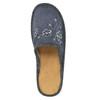 Damskie pantofle z haftem bata, szary, 579-2280 - 19