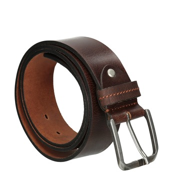 Brązowy skórzany pasek bata, brązowy, 954-3106 - 13
