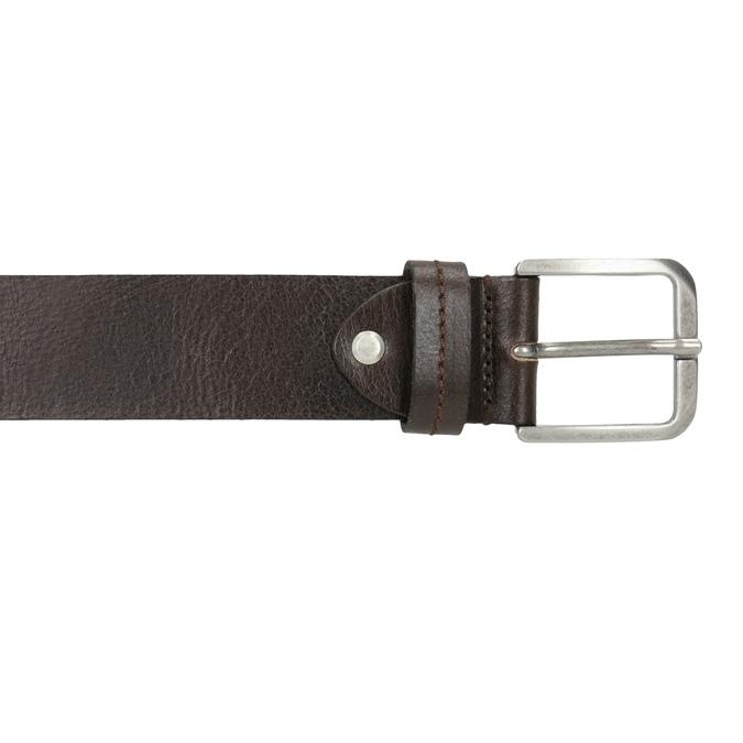 Męski skórzany pasek bata, brązowy, 954-4106 - 26
