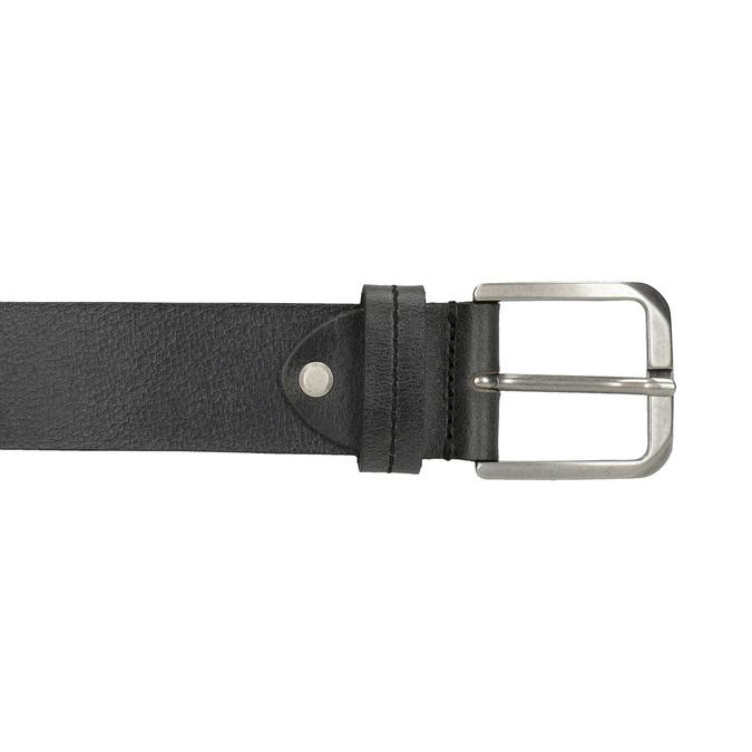 Czarny skórzany pasek bata, czarny, 954-6106 - 26