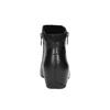 Botki ze skóry na koturnie rockport, czarny, 614-6003 - 17