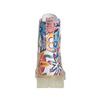 Skórzane botki z kolorowym kwiecistym wzorem weinbrenner, 596-2640 - 17