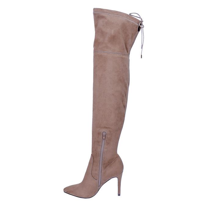 Kozaki damskie nad kolana bata, brązowy, 799-3600 - 19