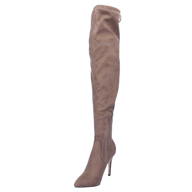 Kozaki damskie nad kolana bata, brązowy, 799-3600 - 26