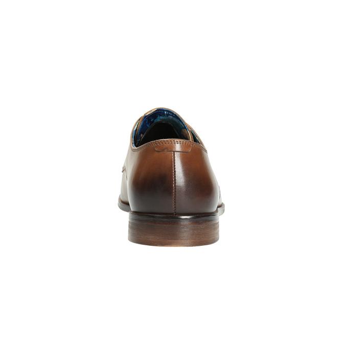 Męskie skórzane półbuty bata, brązowy, 826-3643 - 17