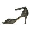 Sandały na szpilce, z metalicznymi refleksami bata, czarny, 729-8630 - 26