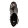 Skórzane buty do kostki na obcasie bata, brązowy, 794-4635 - 19