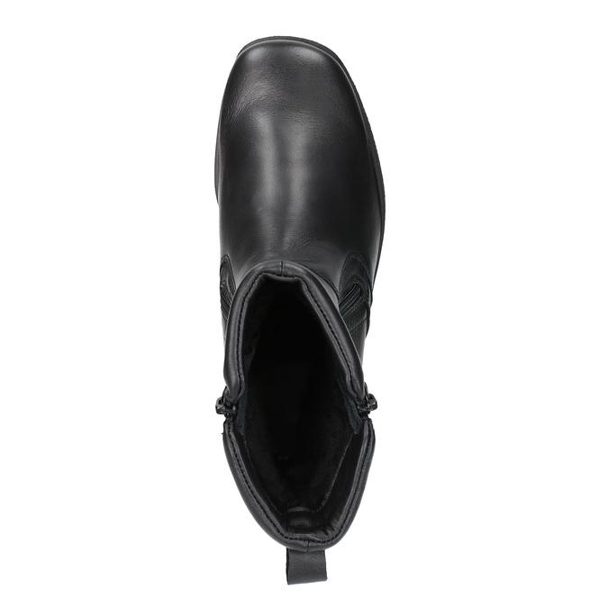 Ocieplane botki ze skóry bata, czarny, 594-6634 - 19