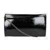 Czarna kopertówka ze srebrnym łańcuszkiem bata, czarny, 961-6221 - 19