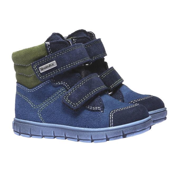 Dziecięce buty skórzane richter, niebieski, 193-9004 - 26