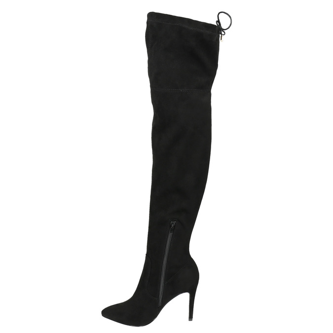 Kozaki damskie nad kolana bata, czarny, 799-6600 - 17