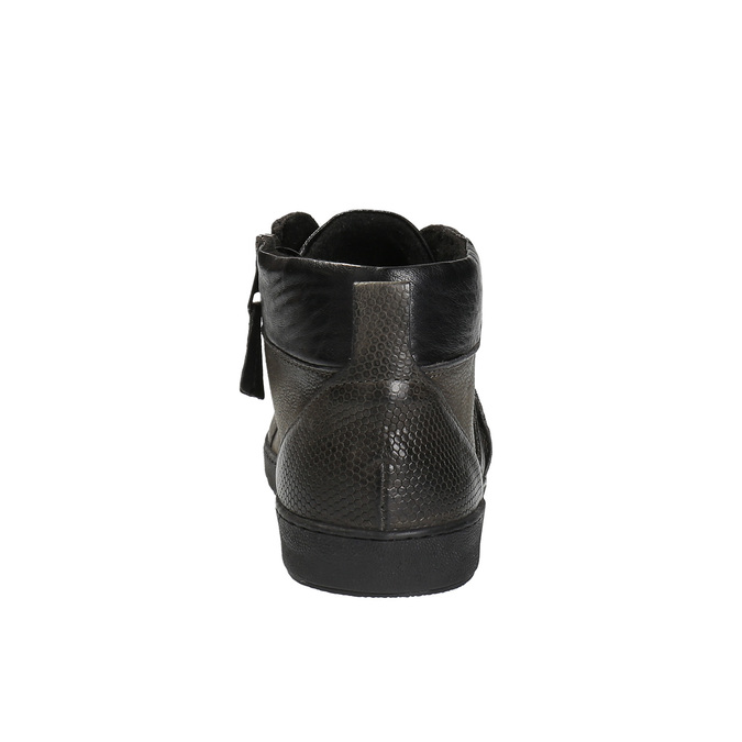Skórzane buty męskie za kostkę bata, szary, 846-2602 - 17