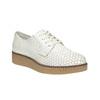 Jasne skórzane półbuty bata, biały, 526-1613 - 13